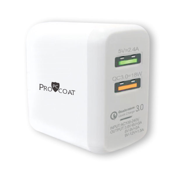 ProCoat Travel Charger Quick Charger 3.0-0