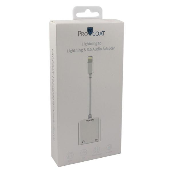 ProCoat Lightning to Lightning & 3.5 Audio Adapter LT01 Pro-300
