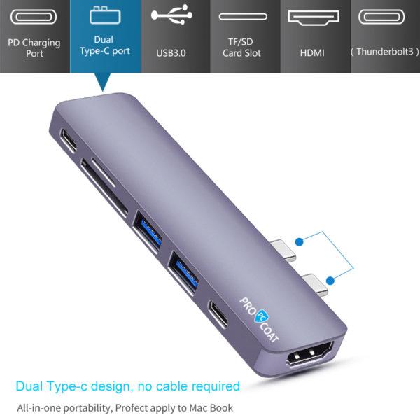 PROCOAT 7 IN 2 USB C HUB FOR MAC T08-388