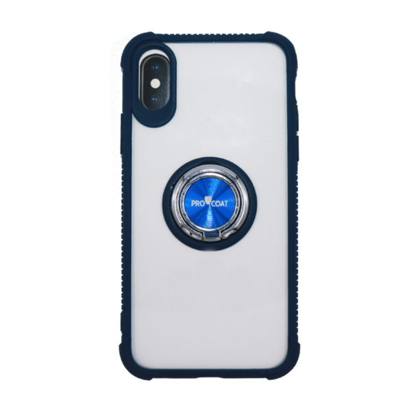 ProCoat Apple Iphone X Ring Hard Silicon CASE -0