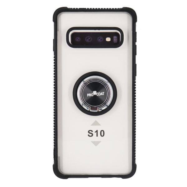 ProCoat Samsung Galaxy S10 Plus Ring Hard Siliocn CASE -0
