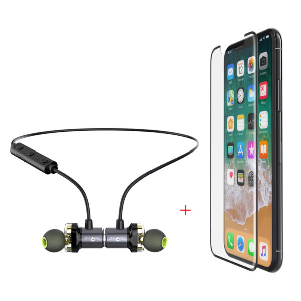 ProCoat X650 sports wireless headphone + Procoat One side Mobile protection-0